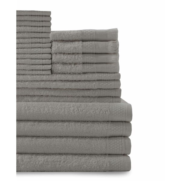 24 Piece 100% Cotton Towel Set by Darby Home Co